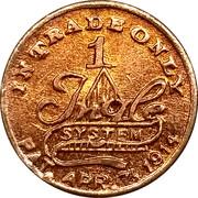 1 Cent - G. W. Cotton – reverse