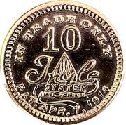 10 Cents - G. W. Cotton – reverse