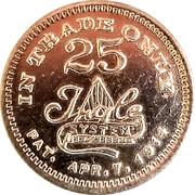 25 Cents - G. W. Cotton – reverse