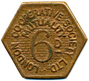 6 Pence Mutuality - London CSL – obverse