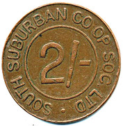 2 Shillings - South Suburban CSL (Surrey) – obverse