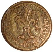Token - Collection Panzani (Florin de Jean XXII, pape en Avignon 1316-1334) – reverse