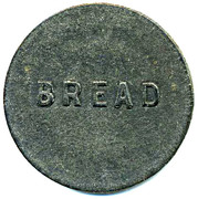 Bread Token - Large Wrapped Loaf, Wellingborough CSL (Northamptonshire) – reverse