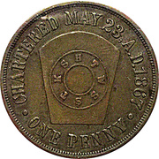 1 Penny - Brazil Ind. Chapter No. 59 – reverse