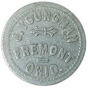 Cigar Token - J. Youngman (Freemont, Ohio) – obverse