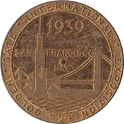 Medal - Golden Gate International Exposition (China Clipper) – obverse