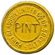 Pint - Port Glasgow United CSL (Renfrewshire Scotland) – obverse