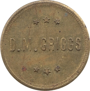 10 Cents - D.M. Griggs – obverse