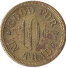 10 Cents - D.M. Griggs – reverse