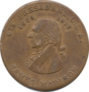 Token - James Madison (Scovill) – obverse