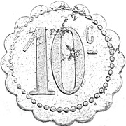 10 Centimes - Société Coopérative de Thaon-les-Vosges – reverse