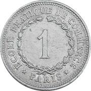 1 Franc - Ecole pratique de Commerce (Paris) – reverse