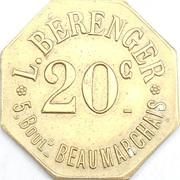 20 Centimes - Au drapeau (Paris) – reverse