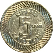 5 Cents - Rideau Carleton – reverse