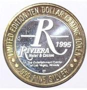 10 Dollar Gaming Token - Riviera Hotel & Casino (Crazy Girls Limited Edition) – obverse
