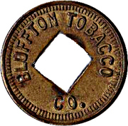5 Cents - Bluffton Tobacco Co. (Bluffton, Indiana) – obverse