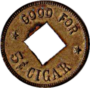5 Cents - Bluffton Tobacco Co. (Bluffton, Indiana) – reverse