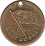 Token - Cuba Must Be Free (The Maine) – obverse