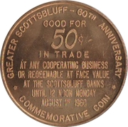 50 Cents - Scottsbluff, Nebraska (60th Anniversary) – reverse