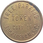 Free Parking Token - City of Rockingham, North Carolina – reverse