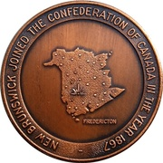 Token - New Brunswick Joined The Confederation of Canada 1867 – reverse