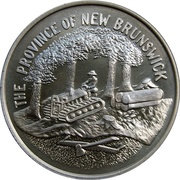 Token - New Brunswick Joined The Confederation of Canada 1867 – obverse