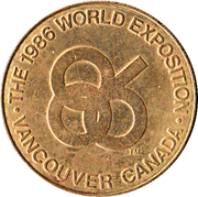 Token - 1986 World Exposition, Vancouver (Expo Centre) – reverse