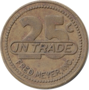 25 Cents - Fred Meyer – reverse