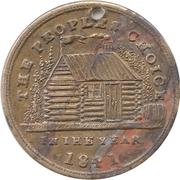 Campaign token/medalet (William Henry Harrison) – reverse