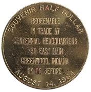 ½ Dollar - Greenwood Area Centennial (Greenwood, Indiana) – reverse