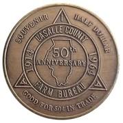 ½ Dollar -Lasalle County 50th Anniversary (Ottawa, Illinois) – reverse