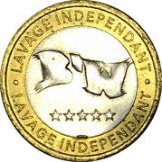 Car Wash Token - B'W Lavage Independant – reverse