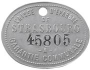 Token - Caisse d'Epargne de Strasbourg – obverse