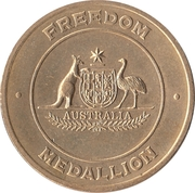 Freedom Medallion - Australia Remembers – reverse