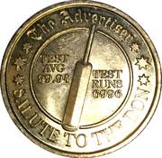 Commemorative Medal - The Advertiser (Sir Donald Bradman) – reverse