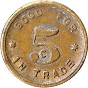 5 Cents - Potts & Raffetto  (Camino, Cal.) – reverse