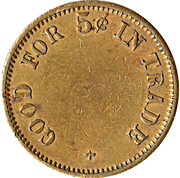 5 Cents - Mills Novelty (San Francisco) – reverse