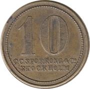 10 Öre - K.D.M. – reverse