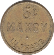 5 Cents - Maxcy (Patrick & Co. S.F. ) – obverse