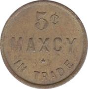 5 Cents - Maxcy (Patrick & Co. S.F. ) – reverse