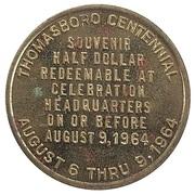½ Dollar - Thomasboro Centennial (Thomasboro, Illinois) – reverse