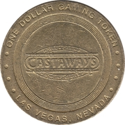 1 Dollar Gaming Token - Castaways (Las Vegas, Nevada) – obverse