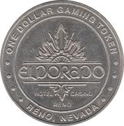1 Dollar Gaming Token - Eldorado (Reno, Nevada) – obverse