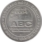 1 Dollar Gaming Token - Eldorado (Reno, Nevada) – reverse