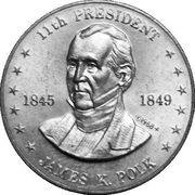 Token - Shell's Mr. President Coin Game (James K. Polk) -  obverse