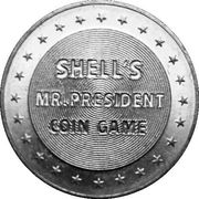 Token - Shell's Mr. President Coin Game (James K. Polk) -  reverse