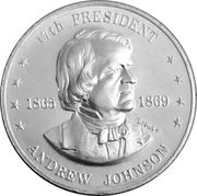 Token - Shell's Mr. President Coin Game (Andrew Johnson) -  obverse