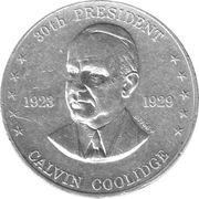 Token - Shell's Mr. President Coin Game (Calvin Coolidge) – obverse