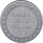 Token - Shell's Mr. President Coin Game (Calvin Coolidge) -  reverse