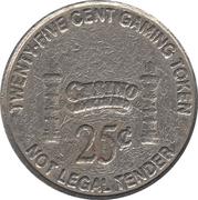 25 Cent Gaming Token - Riverboat Casino Rock Island – reverse